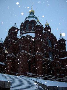 Helsinki, Finland in the winter