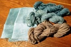 Dyeing with frozen woad leaves.