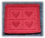 Framed Hearts...great tutorial on blocking...essential for these kinds of squares!
