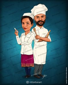 Nurse caricature, Chef caricature, Nurse and chef, Nurse cartoon, chef cartoon, Custom Caricatures illustration from photos, Save the date, Indian caricature, Caricature Wedding Gifts, Caricature Invite, guests sign in board, India Wedding, south indian wedding, nitisebanart Nurse Cartoon, Cartoon Chef, Wedding Caricature, India Wedding, Caricatures, Invite, Wedding Gifts, Sign, Photo And Video