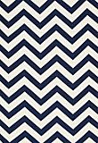Schumacher - wallpaper in navy.  fun maybe back of bookcases.