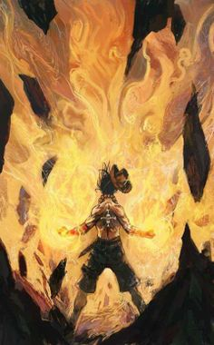 Fire Fist Ace from the anime One Piece