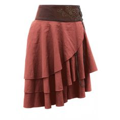 Short Tan Layered Steampunk Skirt-looks easy enough to DIY