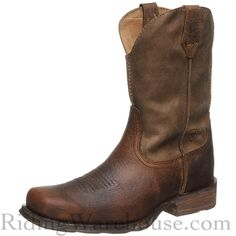 The Ariat Rambler Earth/Brown Bomber Men's Cowboy Boots sets the standard for working men's riding and work boots. Our Price: $149.95.