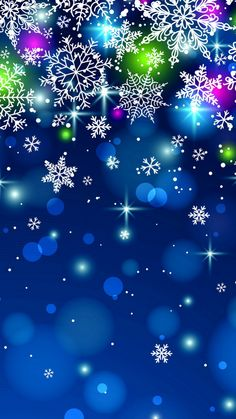 Download 720x1280 «Snowflakes» Cell Phone Wallpaper. Category: Holidays