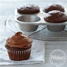 Just Six Chocolate Cupcakes from Pillsbury® Baking cause sometimes you only need half a dozen!