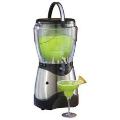 "This insulated margarita and slush machine offers a 1-gallon capacity and convenient carrying handle.        Construction Material: Stainless steel  Color: Silver  Features:     Secure the safety lid and flip the switch  Easy pour spout dispenses frozen drink directly into your glass          Dimensions: 19.3"" H x 10.5"" W x 10"" D       Shipping: This item ships small parcelExpected Arrival Date: Between 04/10/2013 and 04/18/2013Return Policy: This item is final sale and cannot be returned"