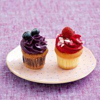 Cupcakes à la framboise ou à la myrtille - Marie Claire Maison