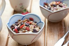 Goji berries, coconut, and almonds make a deliciously healthy snack that is full of superfood ingredients.