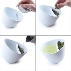 Simple and Good. Tea For One of the Day: Winner of the 2011 Red Dot Design award, Laura Bougdanos and Vesa Jääskö's Magisso Teacup is tipped to allow tea lovers to pour hot water over a specialized compartment for their favorite loose leaves. Red Dot Design, Cup Design, Design Blog, Deco Design, Design Trends, Creative Kitchen, Tea For One, Tea Infuser, Tea Strainer
