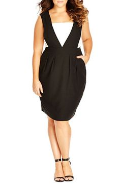 City Chic 'Tiffany' Bow Back Dress (Plus Size) available at #Nordstrom