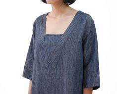 Jean Dress Linen Dress Montage Dress Simple by OurLittleDaisy
