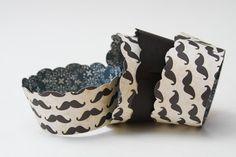 Mustache Cupcake Wrappers Set of 12  Ready to ship by mauka2makai, $8.00
