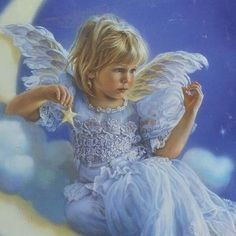 Angel ~ by Sandra Kuck Entertaining Angels, I Believe In Angels, Angels In Heaven, Heavenly Angels, Angel Pictures, Angel Images, Angels Among Us, Guardian Angels, Beautiful Paintings