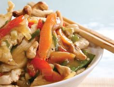Chicken and Cashew Stir Fry - Symply Too Good to be True. An oldie but a goodie. The whole family loved it. We add more veggies (extra snow peas, steamed/microwaved broccoli at the end) as there is ample sauce and it stretches the meal a bit further (for leftovers for work the next day!).  Could use store bought roasted (unsalted) cashews and/or sliced or diced chicken breast to reduce prep time in this recipe. Highly recommend for a delicious, healthy meal.