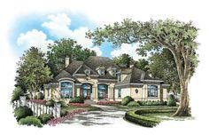 The Verdelais House Plan - Front Color