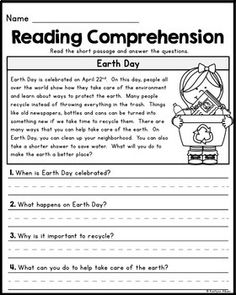 FREE - Reading Comprehension Passages by Kaitlynn Albani Free Reading Comprehension Worksheets, 2nd Grade Reading Worksheets, First Grade Reading Comprehension, 4th Grade Reading, Reading Response, Reading Fluency, Reading Passages, Reading Skills, Teaching Reading