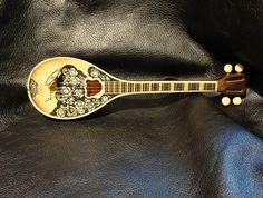Vintage Mandolin Music Box Wood Italian by ElegantArtifacts