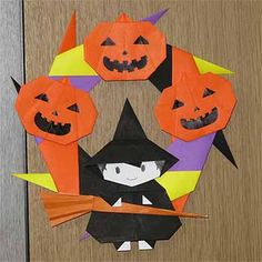 折り紙でハロウィンリースの折り方!子供も簡単飾りの作り方 | セツの折り紙処