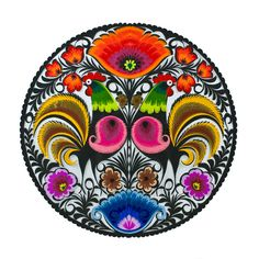 Polish traditional paper cut-out made by hands in Łowicz Polish Folk Art, Art Furniture, Paper Cutting, Hands, Dishes, Traditional, Christmas, Handmade, Mandalas