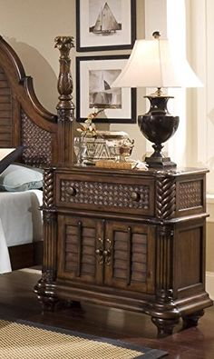 Progressive Furniture P142-45 Palm Court II Bedside Chest Nightstand, 37 x 18 x 35, Brown