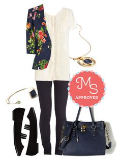 """""""Fab Floral Designer Blazer"""" by modcloth ❤ liked on Polyvore featuring women's clothing, women, female, woman, misses and juniors"""
