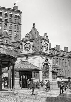 Scollay Square Station - Boston Ma - 1906