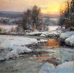 "Michael Godfrey American Painter.""Winter Landscapes"""