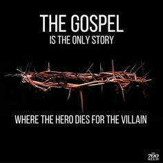 In the gospel is Jesus the only hero who died for the villains . Christian Humor, Christian Life, Funny Christian Quotes, Powerful Christian Quotes, Christian Stories, Bible Verses Quotes, Faith Quotes, Scriptures, Funny Jesus Quotes