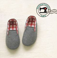 Woman Indoor Shoes/House Slippers (No.01) PDF Sewing Pattern, Size 5-11. $5.00, via Etsy.