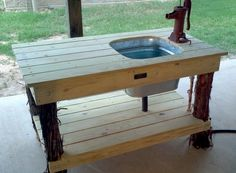 Back Porch Sinks Web Site - I really like this, as a garden sink, as a sink for when we're grilling outside...  It's so cool!