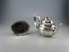 Antique English Silver London Teapot & Stand Crespin Fuller 1804