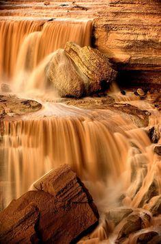 River Ribbons - Grand Falls, Arizona by Shane McDermott
