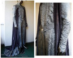 King Thranduil Starlight Robe and Cape - The Hobbit cosplay costume Lord of the Rings elven lord elf