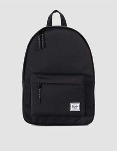 Herschel Classic Mid-Volume Backpack in Black Nylon Anti-theft Water-resistant Backpack, with stylish and chic design, goes well with any occasions, you will feel comfortable to carry it. Black School Bags, School Bags For Girls, Black Backpack School, Pretty Backpacks, Stylish Backpacks, Chic Backpack, Fashion Backpack, Laptop Backpack, Herschel Heritage Backpack