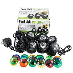 Jebao PL1LED-6 Submersible Pond LED Light with Colored Le...