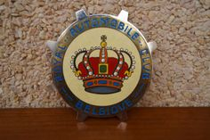 Vintage-Belgica-car-club-badge-Royal-Automobile-club-Belgique-1960