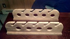 Fishing Rod Holder from Barnwood
