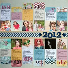 2012 Recap by Marla Kress #scrapbook #layout #sctmagazine