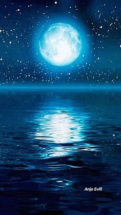 In the night moon gif Beautiful Nature Wallpaper, Beautiful Moon, Moon Pictures, Nature Pictures, Gif Pictures, Animiertes Gif, Foto Gif, Shoot The Moon, Water Ripples
