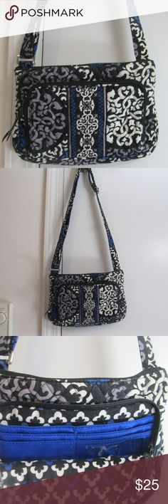 b7946653c4c4 Vera Bradley Canterberry Cobalt Crossbody Purse Vera Bradley Little Hipster  Crossbody Purse in Canterberry Cobalt pattern