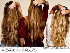 beach hair DIY #beach #hair