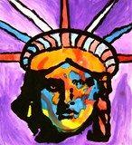 Artsonia Art Exhibit :: Peter Max Liberty Head -5