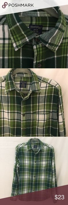 🆕Faded Glory Flannel - Green Plaid Faded Glory Flannel Shirt in Green Tones. Features Front Chest Pocket. The Cuff Area has two buttons for the proper fit.  The Lower Arms open up high (or buttoned closed) makes it Easier to Roll Up your Sleeves. Extra Buttons sewn in at the Botton Front of the Shirt (in case you lose one). EUC. 100% Cotton. Tag on Shirt says it will fit a Size Small (34-36). Faded Glory Tops Button Down Shirts