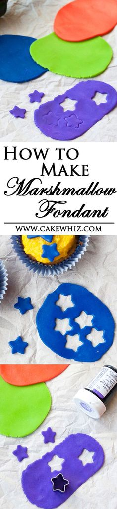 to make easy and cheap MARSHMALLOW FONDANT (also known as mmf) with step-by-step pictures and many tips! Icing Frosting, Cake Icing, Fondant Cakes, Eat Cake, Cupcake Cakes, Fondant Tips, Cupcakes, Homemade Fondant Recipes, Best Cake Recipes