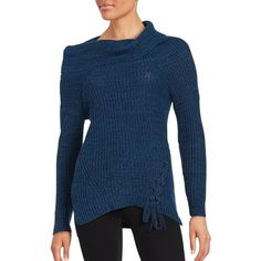 Jessica Simpson Gwenore Knit Sweater ($14) ❤ liked on Polyvore featuring tops, sweaters, silver, cowl neck sweater, extra long sleeve sweater, knit cowl neck sweater, knit sweater and jessica simpson sweater