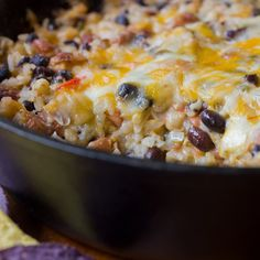 Tailgate Beans & Rice Dip