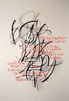Buchstaben II / 40 x 40cm / Collage, lápiz, pluma metálica y tiralíneas sobre bastidor / 2009