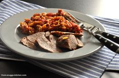 pasta with lamb from the oven / pasta mit lamm aus dem ofen