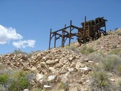 """The Eureka Mine was owned and worked by Pete Aguereberry in the early 1900s. The rumor is that the mine is haunted by a grisly ol' """"prospector"""". Today there are a few dilapidated buildings perched on a rocky ledge overlooking Death Valley."""